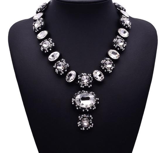 Majestuoso Collar Moda Maxi, Cristal, Envío Gratis