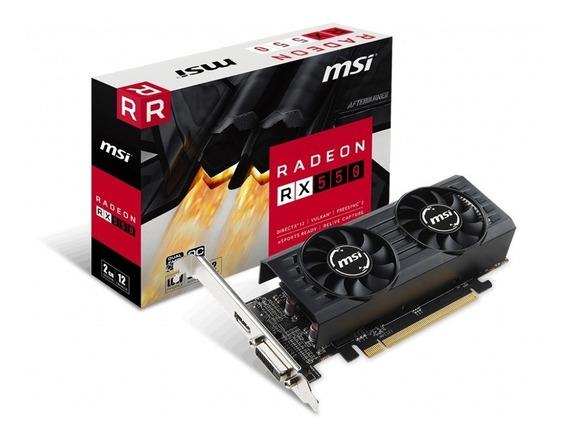 Placa De Video Amd Msi Rx 550 2gt Lp Oc Edition 2gb Radeon