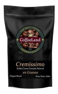 Café Tostado En Granos Coffeeland Cremíssimo X 1 Kg