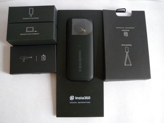 Câmera Insta360 One X 5.7k Vr Melhor Que Ricoh Theta V