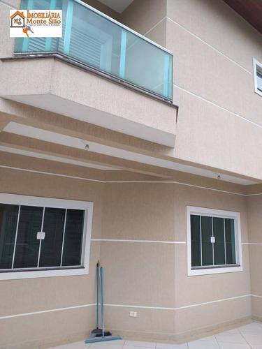 Sobrado Com 3 Dormitórios À Venda, 168 M²  - Jardim São Francisco - Guarulhos/sp - So0360