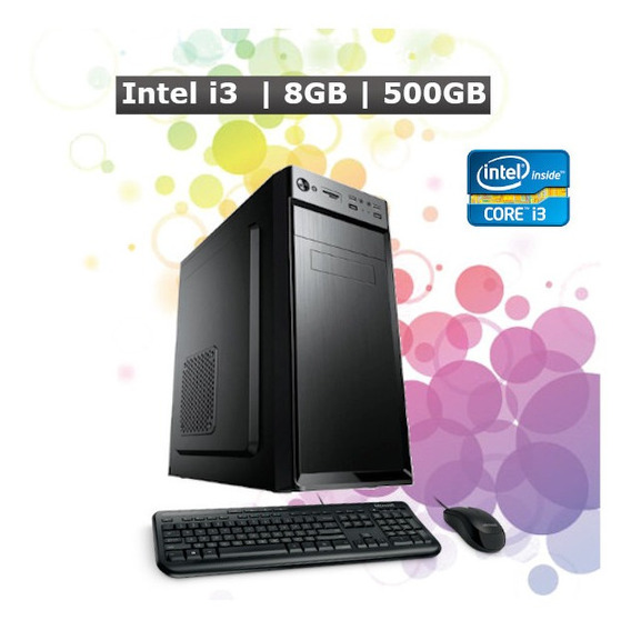 Pc Computador Desktop Core I3 8gb Hd 500gb Hdmi + Kit + Nf