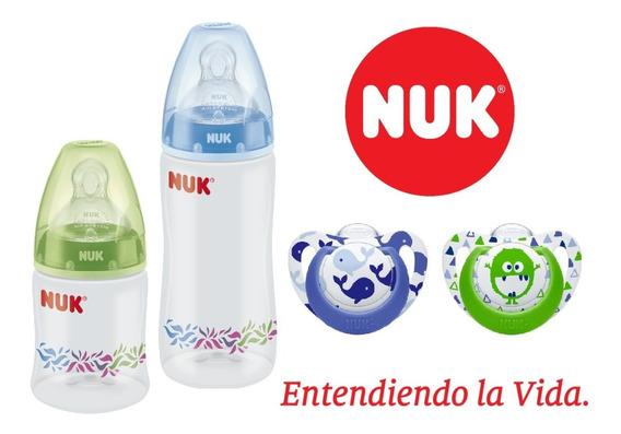 Set Recien Nacido Nuk ® 2 Mamadera 2 Chupete Varon B & G