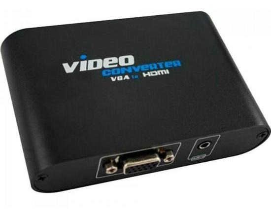 Conversor Vga Para Hdmi Video Converter Preto Pix