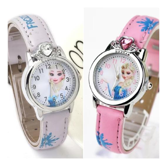 2 Unidades Relógio Infantil Frozen - 3 Cores Disponíveis