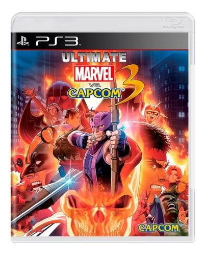 Jogo Ultimate Marvel Vs Capcom 3 Ps3 Mídia Física Original