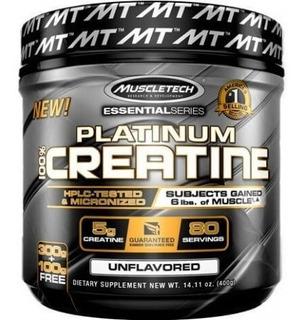 Creatina 100% Platinum Muscletech 400g - Promoção