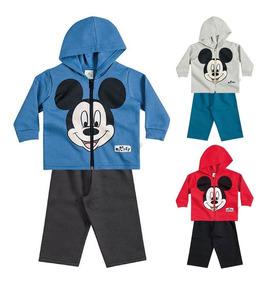 Conjunto De Inverno Para Bebê Mickey - M / G - Brandili