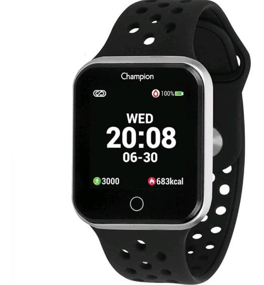 Relógio Champion Caixa Prata Smartwatch Com Garantia