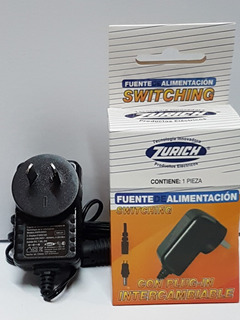 Fuente Switching 12v 0,5a 6w Con Plug Intercambiable