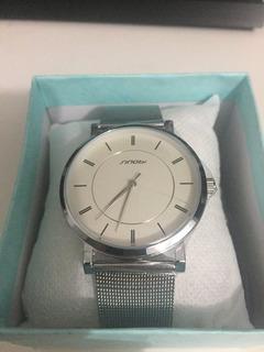 Relógio Sinobi Masculino - Pulseira Prata
