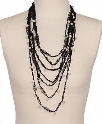 Collar De Encaje Con Perlas Hermoso Forever 21 Moda Joyeria