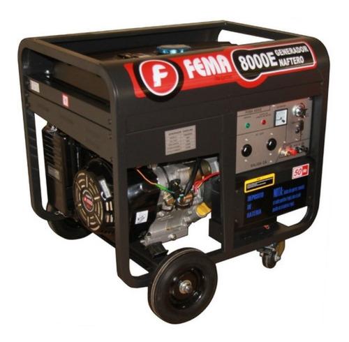 Generador Electrico Fema 8000 Arranque Electrico 7.5kva 16hp