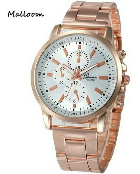 Reloj Dama Metalico Color Oro Rosa