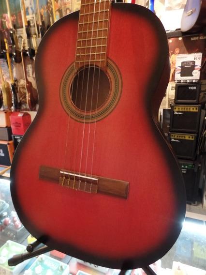 Guitarra Clásica Criolla Bohemia Nro 8 Rojo Mate Estudio