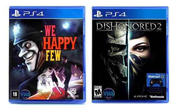 Dishonored 2 + We Happy Few - Ps4 - Mídia Física - Novos