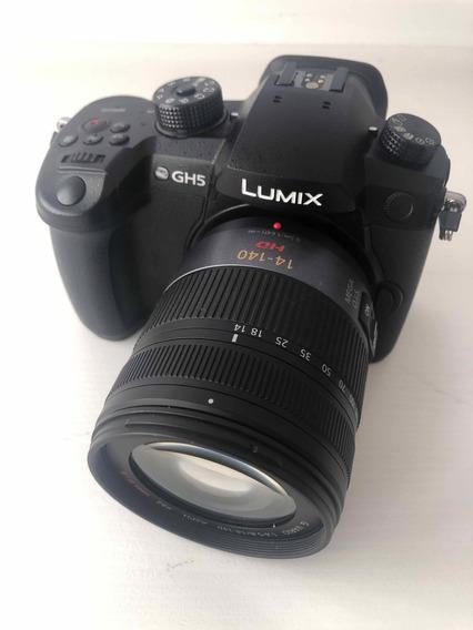 Lumix Gh5 Com Lente 14-140mm+ 8 Baterias - Envio Imediato