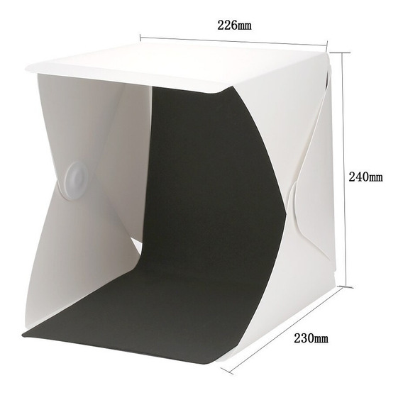 Caja De Luz Mini Estudio Fotográfico Con Luz Led 23x23cm