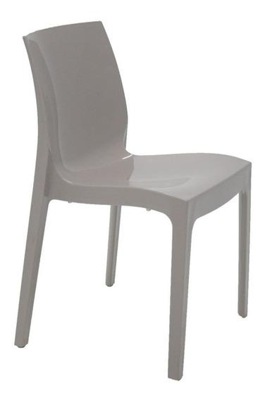 Cadeira Tramontina Alice Polida Camurça Sem Braços