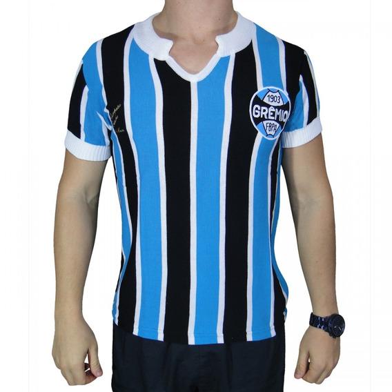 Camisa Retro Gremio 1977 Tricolor Numero 9 Torcedor Oficial