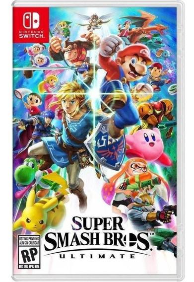 Super Smash Bros Ultimate Midia Fisica Novo Original Switch