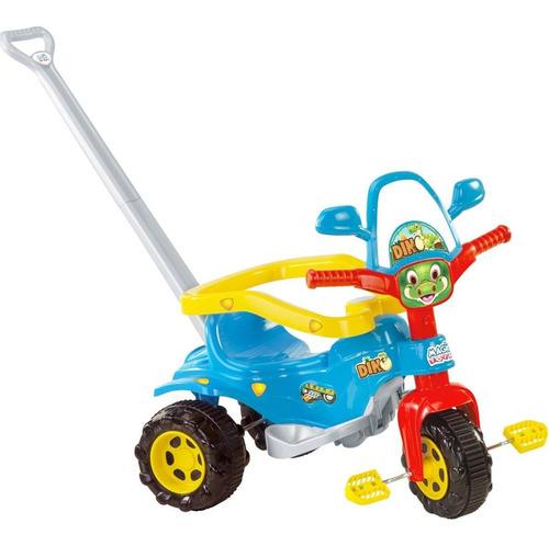 Ticotico Triciclo Dino Azul Motoca Infantil + Hast +adesivo
