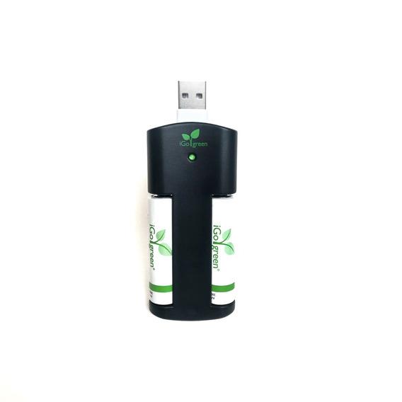 Usb Cargador Baterias Recargables 2 Pilas Aa Sony Enegizer