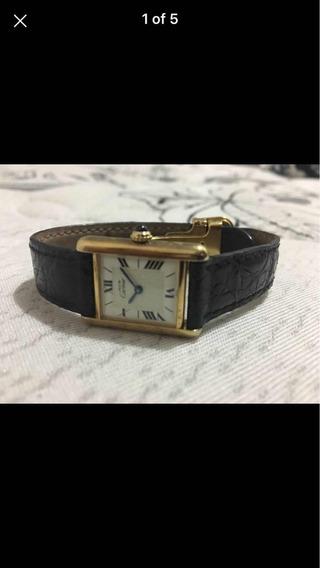 Relógio Cartier Original Must Tank Vermeil 1613
