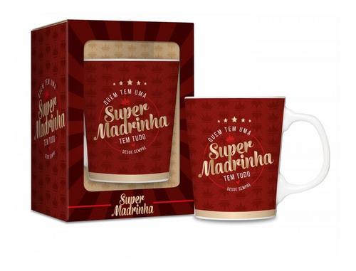 Imagem 1 de 1 de Caneca Porcelana Premium Super Madrinha 280ml Presente