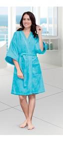 Bata Baño Para Dama Turquesa Premium Absorbente Envio Gratis