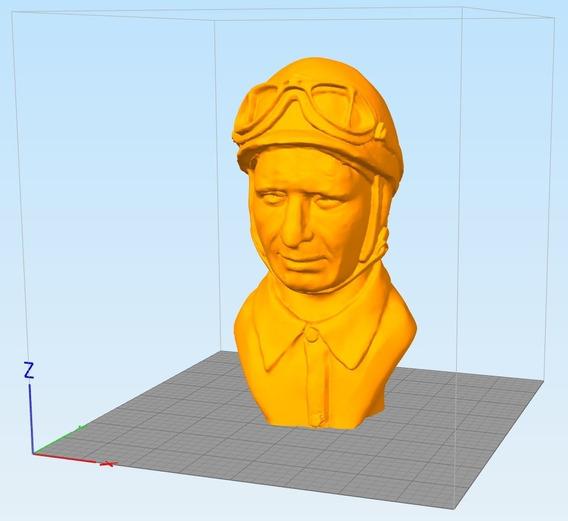 Archivos Stl Para Impresión 3d - Juan Manuel Fangio Busto