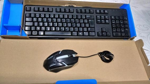 Kit Combo Teclado E Mouse Gamer C2500 Abnt2 Ç Com Fio Ñ Dell