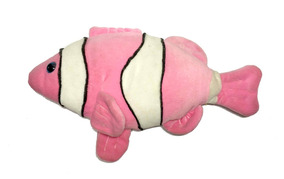 Pelúcia Peixe Palhaço Rosa Fofo Educativo Infantil Brinquedo