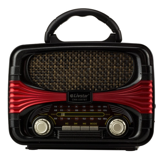 Radio Am Fm Retro Caixa Som Bluetooth Bateria Recarregavel