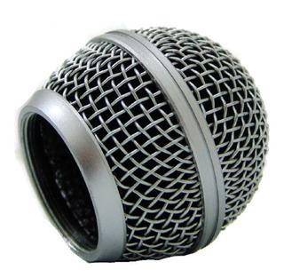 Rejilla Bocha Metalica P/microfono Capsula Universal Sm58