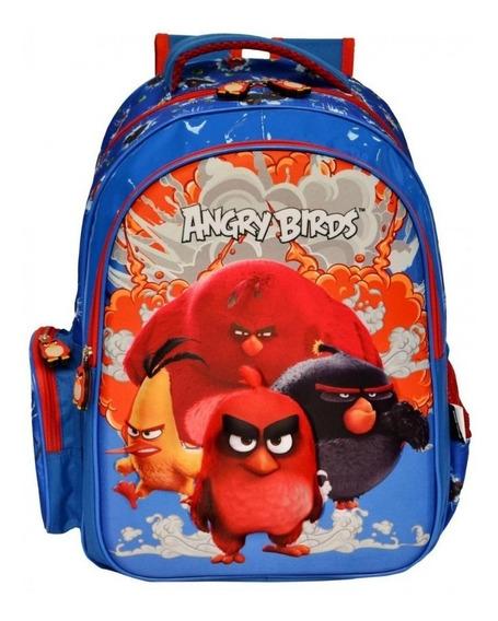 Mochila De Costa Escolar Angry Birds Dsenho 3d+lancheira