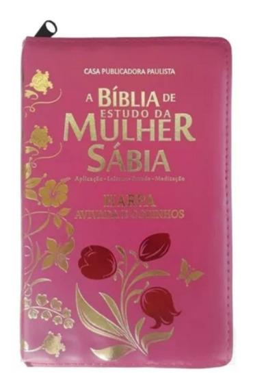 A Bíblia Sagrada De Estudo Da Mulher Sabia Com Zíper