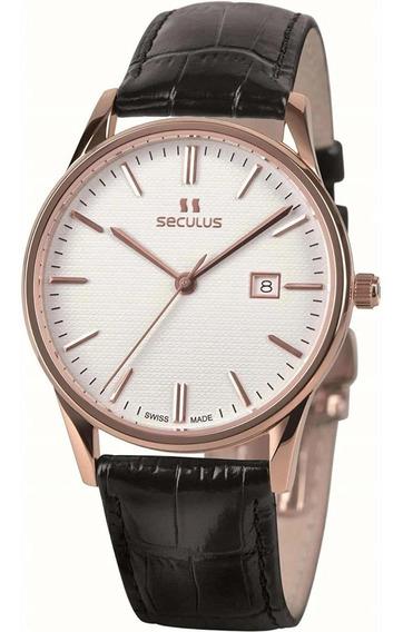 Reloj Seculus 1003g.4.705 Lb R Wap Para Caballero Correa De Piel