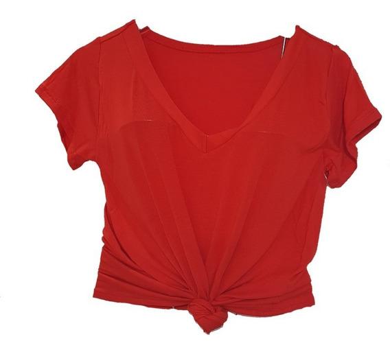 Kit 3 Blusa T Shitrt Feminina Decote V Podrinha