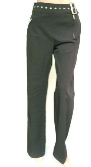 Valentino Pantalon Vestir T4 Elastizado Negro