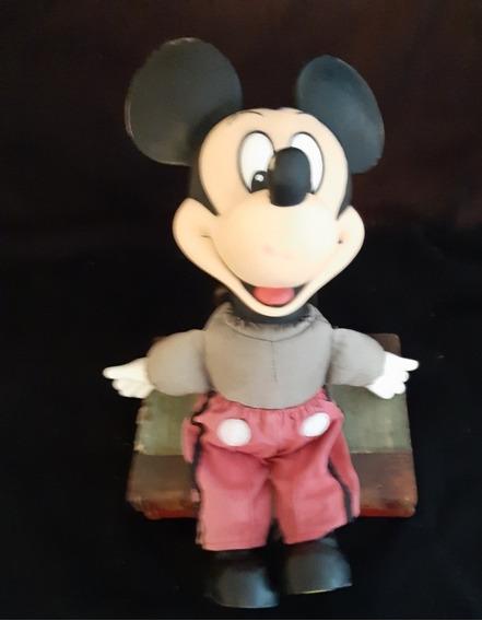 Boneco Antigo Mickey Mouse - Década De 1960