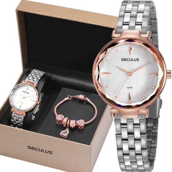 Relógio Seculus Feminino 77068lpskgs1k1