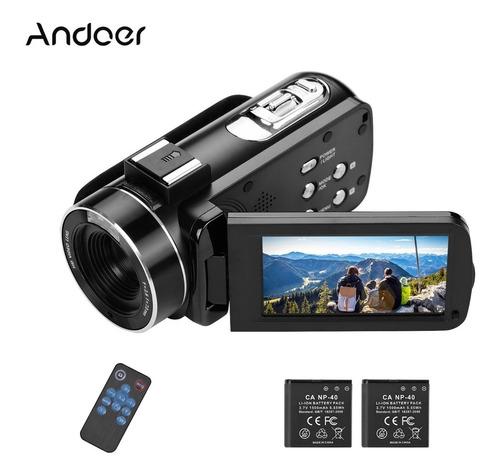 Imagen 1 de 10 de Andoer 4k Ultra Hd - Cámara De Vídeo Digital Dv