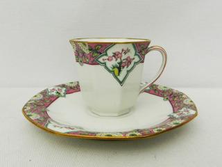 Taza Para Café Porcelana Limoges B & C Godin Art Deco