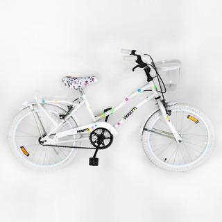 Bicicleta Peretti Rod20 Playera Dama Completa Blanca