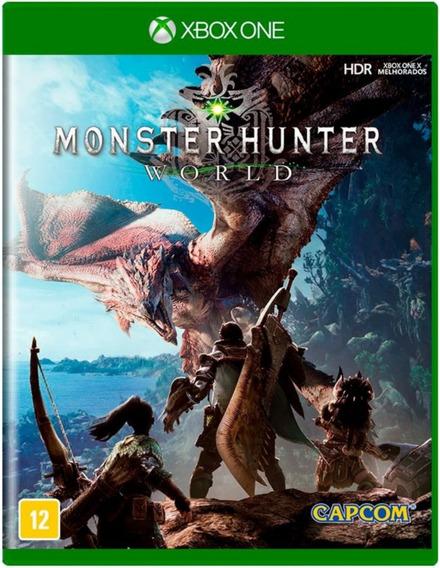 Monster Hunter World Xbox One Midia Fisica - Nv - Lacrado