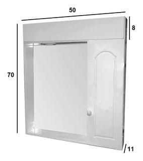 Botiquin Espejo Peinador 50 X 70 Con Luz Mueble Blanco Baño