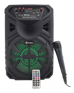 Parlante Portátil Bafle Bluetooth Carrito Usb Luces