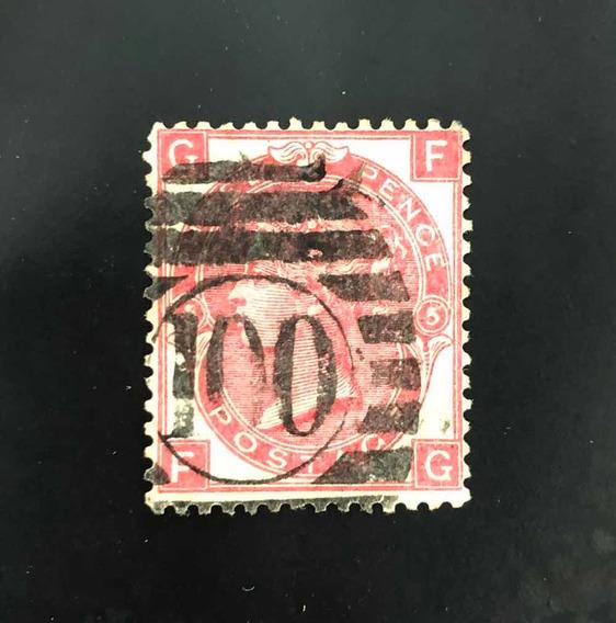 Estampilla Gran Bretaña Inglaterra 1867 Yv 33 Scott 49. Leer