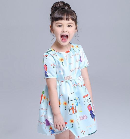 Vestido Premium D G Infantil Meninas